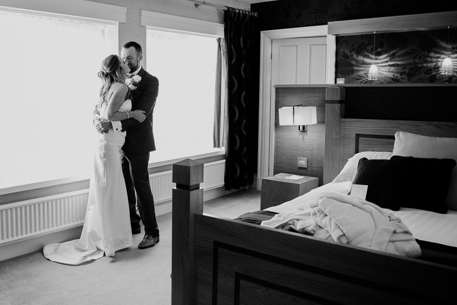 bride and groom bridal suite at barton grange
