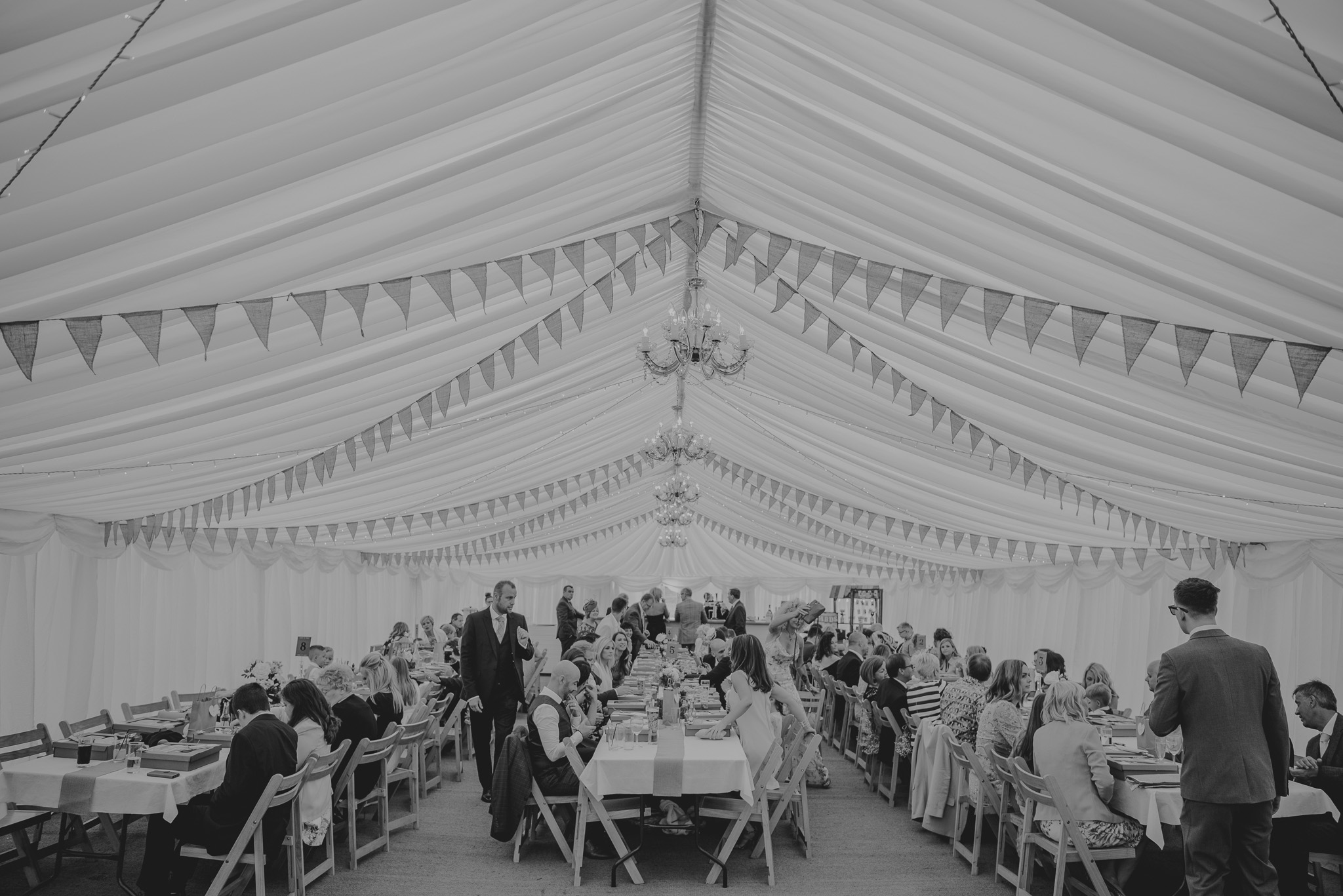 marquee awaiting bridal party