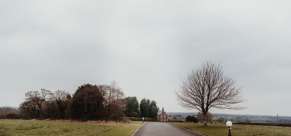 view of Beeston Manor and driveway]