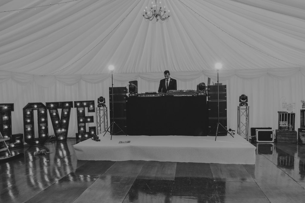 dance floor and dj ready for evening