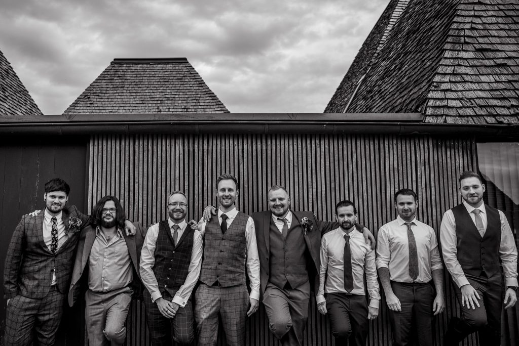 groomsmen at Brockholes
