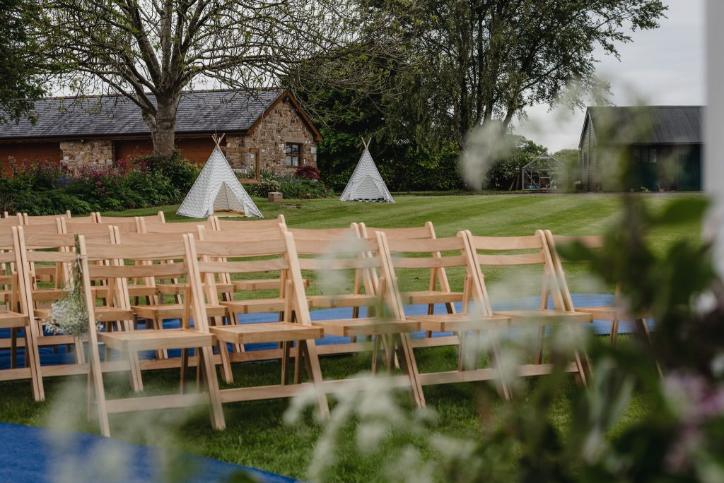 kids tipi's at mill house