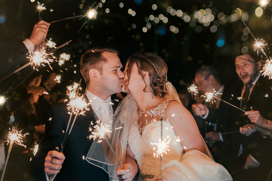 couple portrait with sparklers