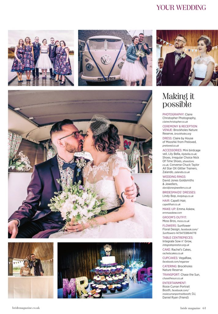 Lancashire and Lake District Bride Magazine Feature